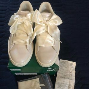 Puma Basket Heart Sneakers size 8